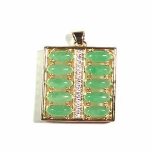 JADE Pendant abacus 10 Cabochon
